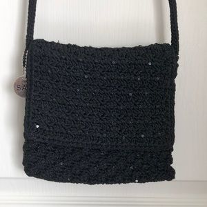 The Sak Crocheted Mini Crossbody Flap Bag